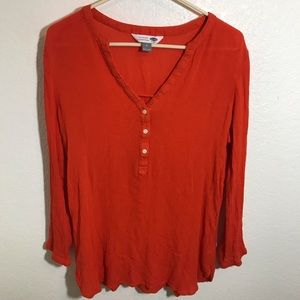 Old navy orange tunic top